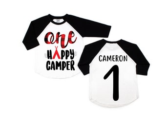 One happy camper 1st first birthday shirt, camping first birthday, camping 1st birthday, camping theme, camping party, camping shirt