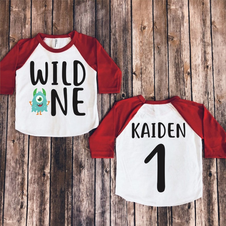 Wild One Birthday Shirt Ones Monster