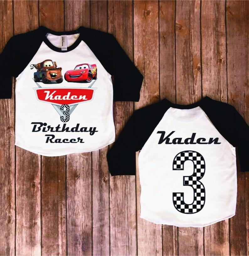 Disney Birthday Boys Cars Customize Mater Shirt