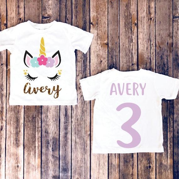 Birthday Girl Unicorn Shirt Party Matching