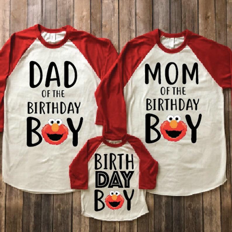 Elmo Birthday Shirt Party Matching