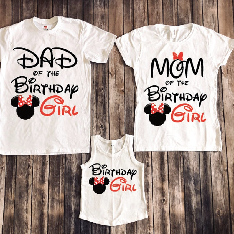 Minnie Mouse Birthday Shirt Disney