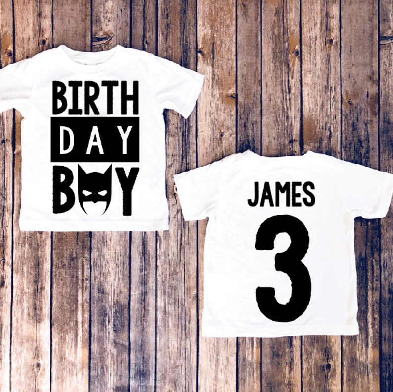 Batman Birthday Shirt Superhero Party Personalize