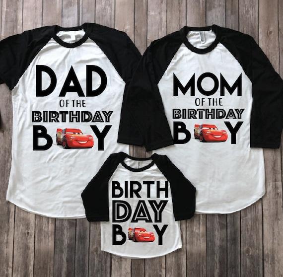 Disney Cars Birthday Shirt Family