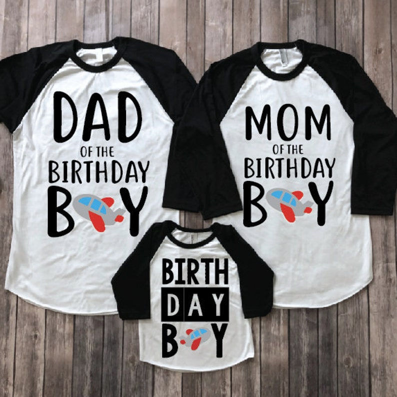 Mom And Dad Of Birthday Boy Matching Parents Shirts Family Shirt