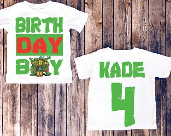 Teenage mutant ninja turtle birthday shirt, TMNT shirt, TMNT birthday, teenage mutant ninja turtles, custom TMNT shirt, turtles party