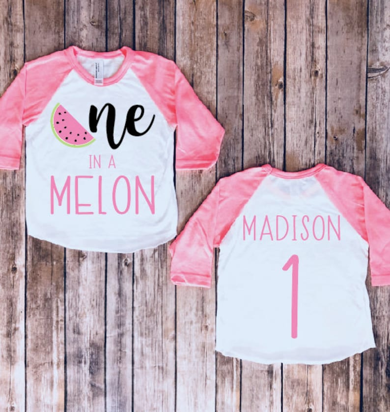 2d66ad562 One in a melon first birthday shirt first birthday | Etsy
