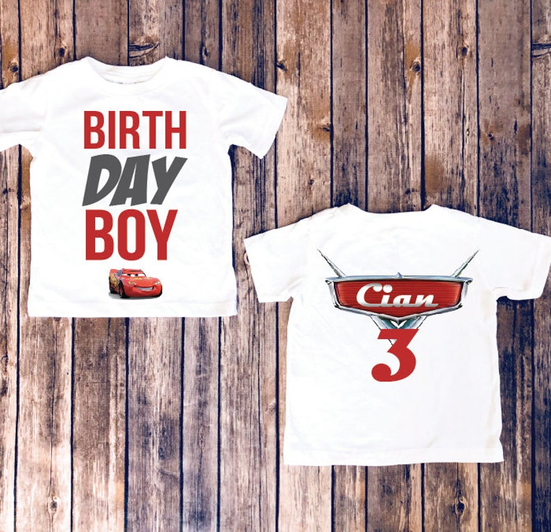 Disney Birthday Boys Cars Boy Shirt