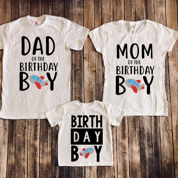 Mom And Dad Of Birthday Boy Matching Parents Shirts