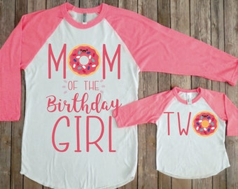 Mommy and me birthday shirts, Donut second birthday, Donut party, matching family, Second birthday donut, Mom and me birthday, matching