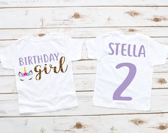 Unicorn girl birthday shirt, unicorn party, unicorn birthday, unicorn outfit,  custom unicorn shirt, unicorn shirt, girl shirt, unicorn gift