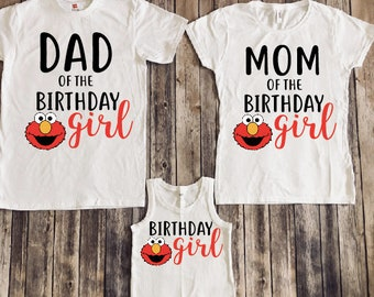 Elmo birthday shirt, elmo family shirts , elmo birthday party, elmo theme shirts, elmo mom, elmo dad, elmo girl, elmo birthday girl