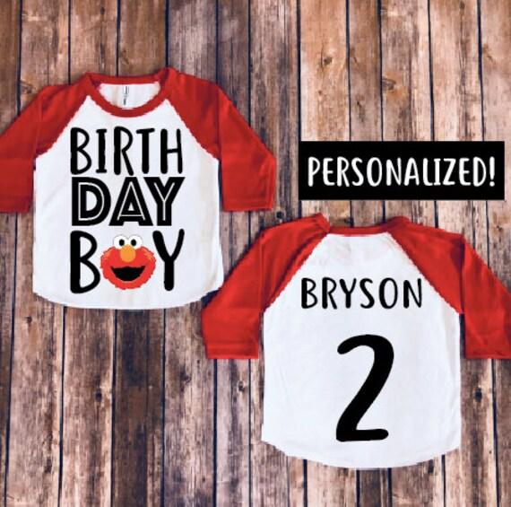 Elmo Birthday Shirt Baby Boy Party