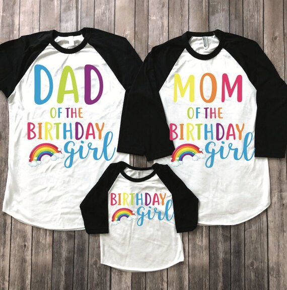 Rainbow Birthday Shirt Girl
