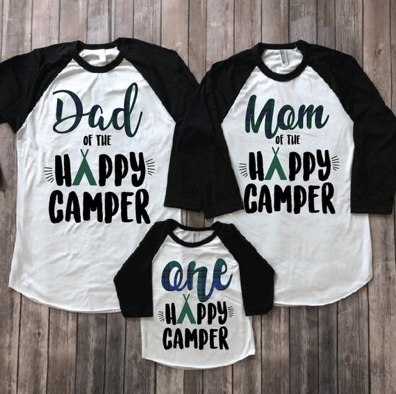 One Happy Camper Kids Birthday Shirt Gift Baby Boy