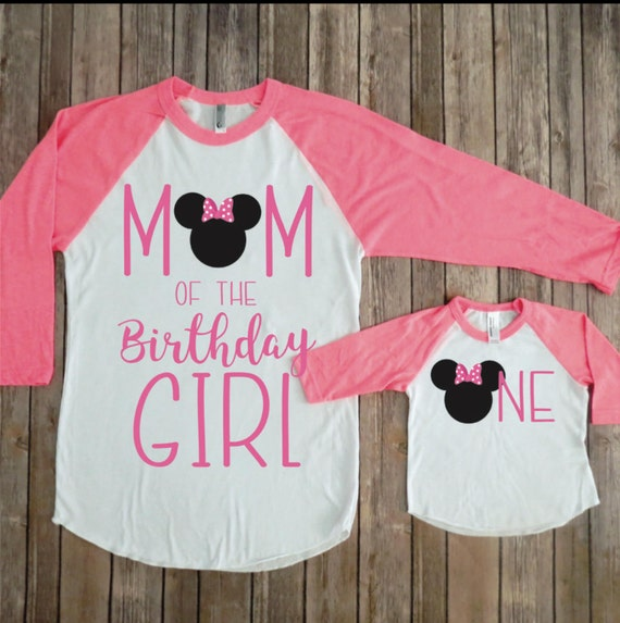 Minnie Mouse Mommy And Me Birthday Shirts Minnie Mouse