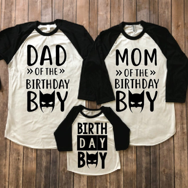 Batman Birthday Shirt Party Matching