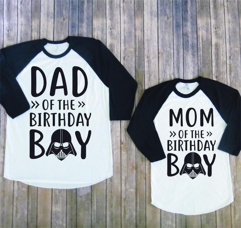 Mom And Dad Of Birthday Boy Darth Version Vader Shirt