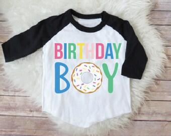 Birthday boy shirt, donut birthday shirt, donut theme, donut party, donut birthday, donut shirt, birthday boy