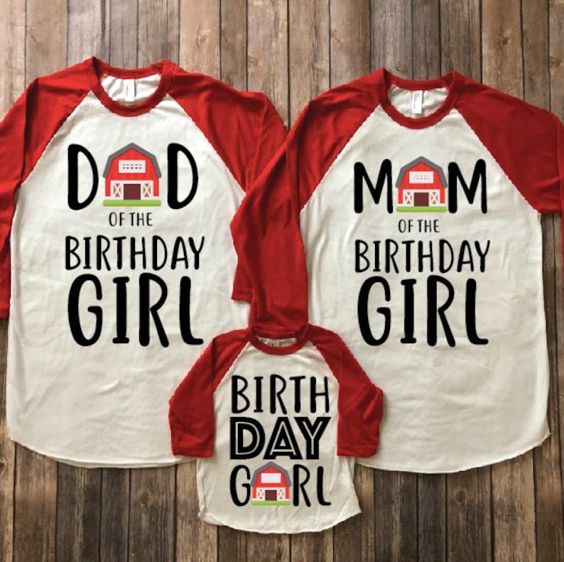 Barnyard Birthday Shirt Country Farm Parents