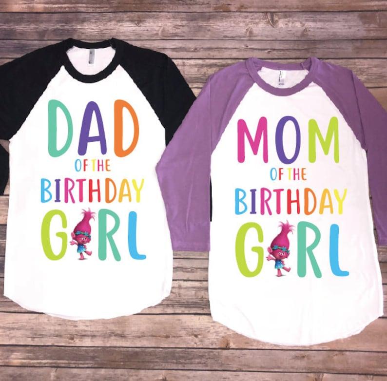 Mom And Dad Of Birthday Girl Trolls Version
