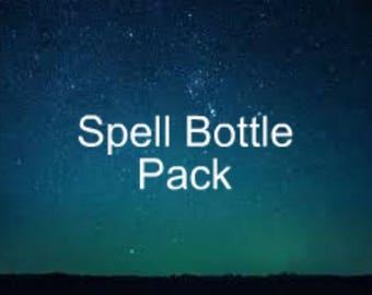 Rituel de bouteille Pack - trois sorts pour le prix de deux - bonheur bouteille, Protection bouteille, bouteille de l'énergie