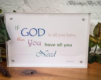 God Has A Reason Trust His Will Psalm 37 5 Decor Plaque Etsy