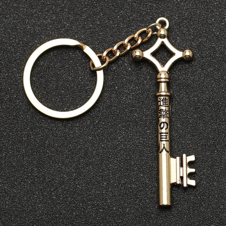 Attack on Titan Keychain Vintage Eren /& Yera Keyring Anime Cosplay Anime  Jewelry