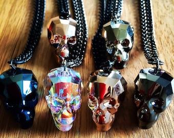 Swarovski Crystal Skull Necklace