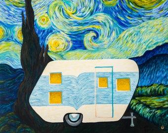 Starry, Starry Night Vintage Trailer