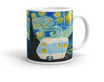 Starry, Starry Night Vintage Trailer Wrap Around Mug 11oz