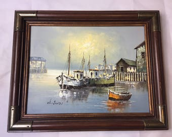 W. Jones Seascape painting with Certificate of Authenticity! 20 X 16