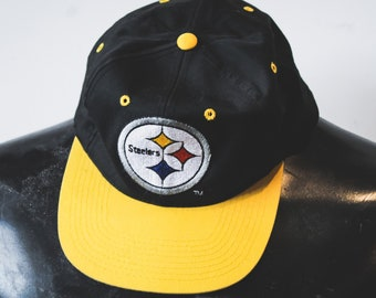vintage snapback hat - Pittsburgh Steelers - made in 90s - baseball cap  five panel 1b30d9687f96