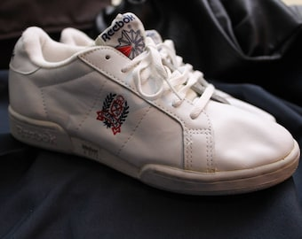 Vintage early 90s Reebok white sneakers - Size 5 - Perfect condition 57b07ec32