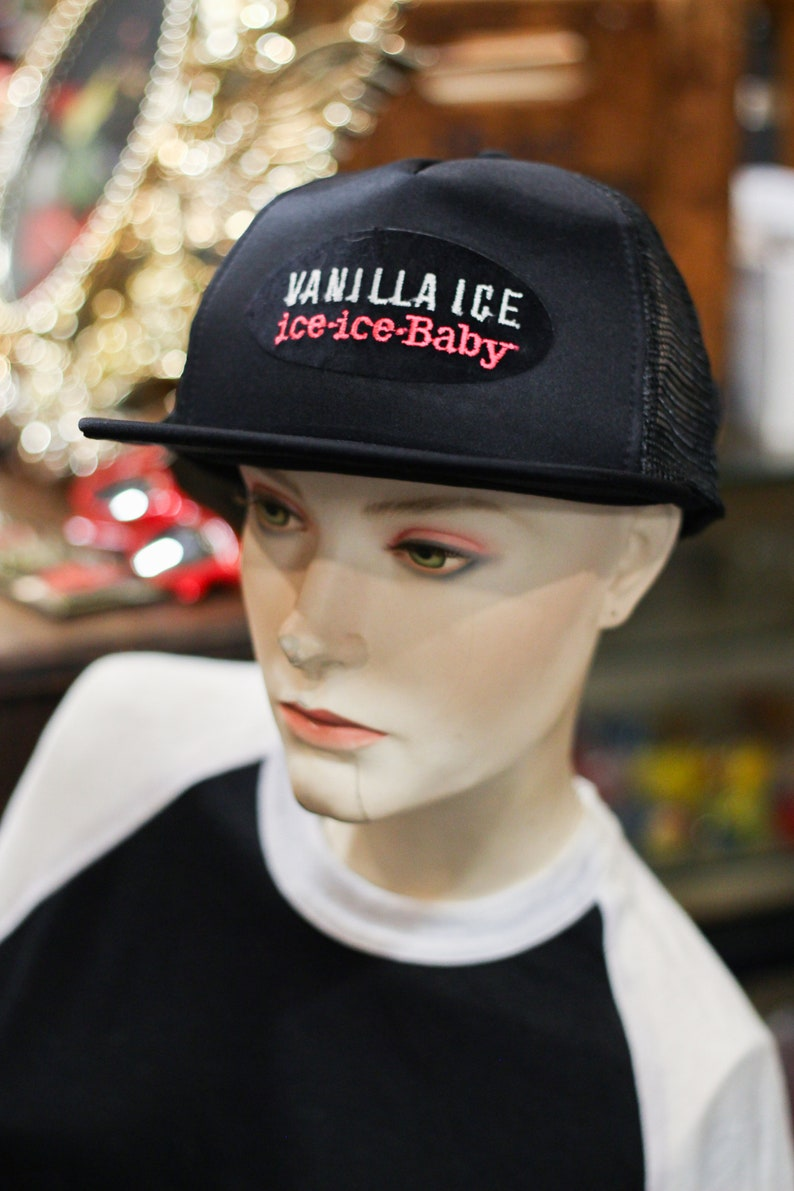Vintage 90 s Vanilla Ice Trucker Baseball hat cap H9  f5f1c56dae59