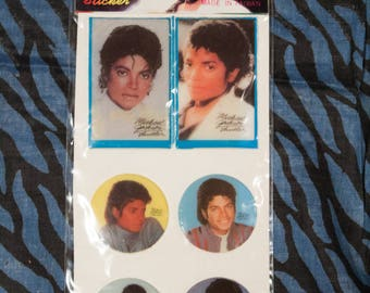 1980s michael jackson puffy stickers - new old stock