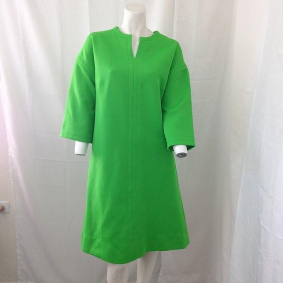 Vintage 60s Nardis of Dallas Green Double Knit Sle