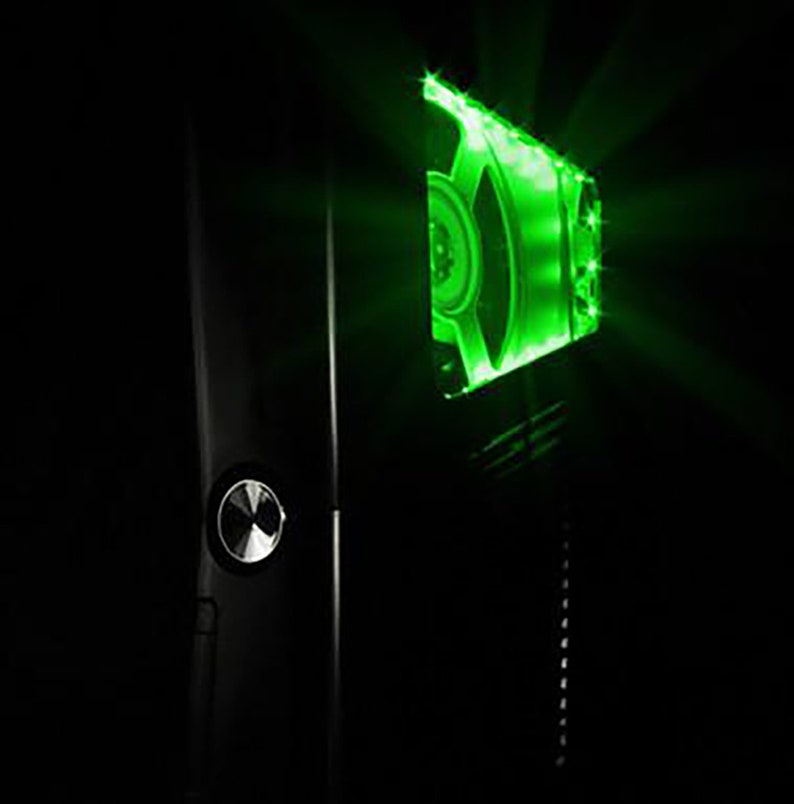 XCM slim case black knight with green led (for Xbox 360 Slim )
