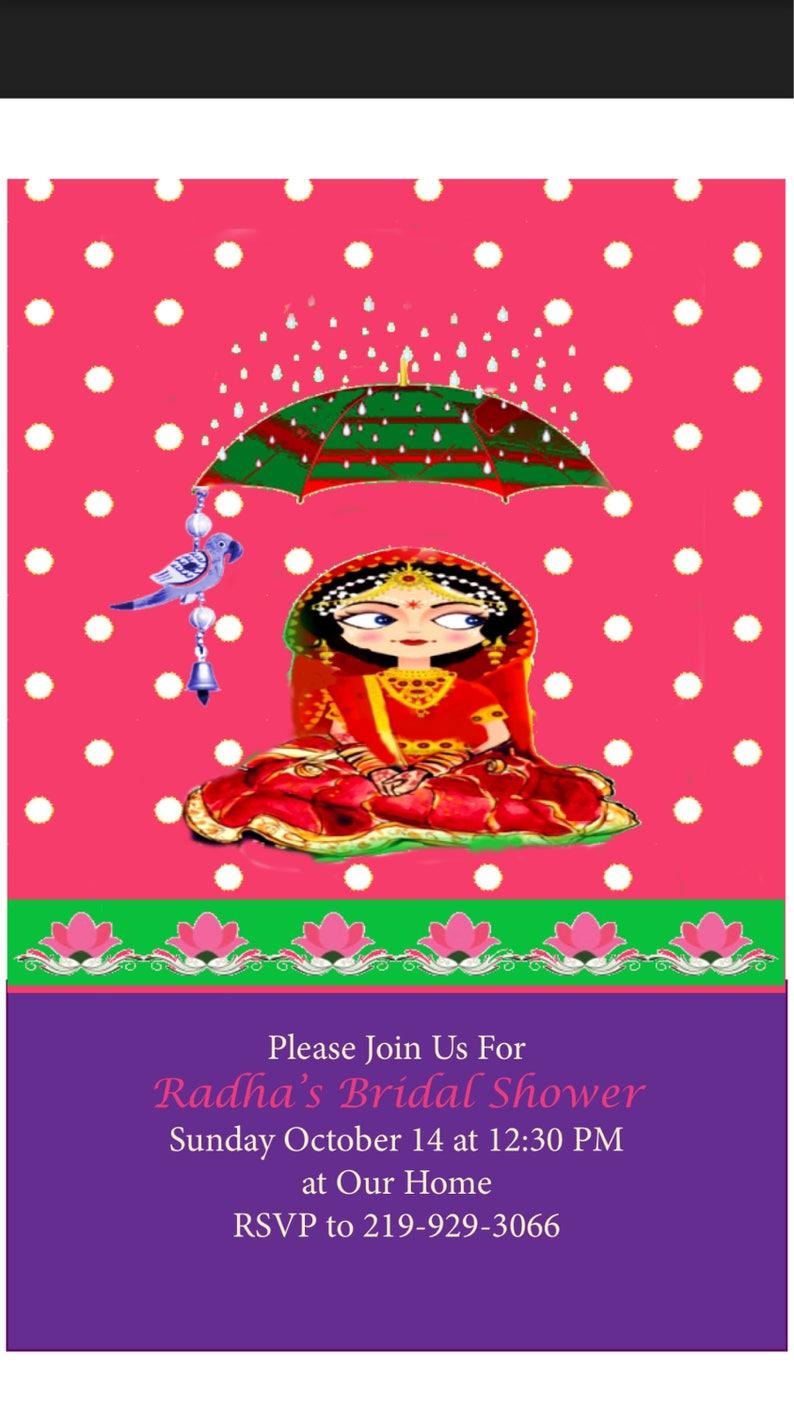 Bridal Shower Or Haldi Ceremony Invitation Etsy