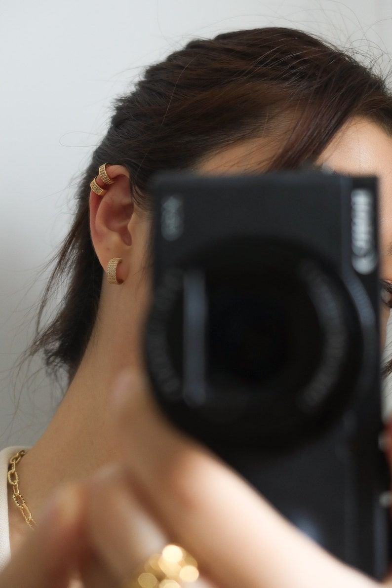 18k gold filled CZ ear cuff diamond ear cuff ear cuff no piercing dainty ear cuffs gold ear cuff no piercing ear cuff