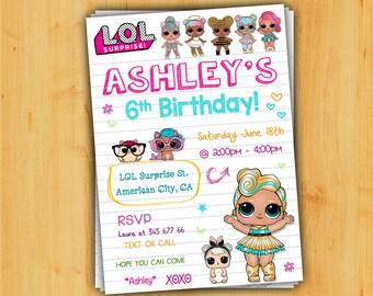 lol surprise birthday invitation lol surprise invitationlol