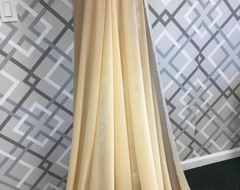 """Taupe cream Ombre chiffon fabric by yard, 60"""" chiffon fabric, orange chiffon,  neutral chiffon"""