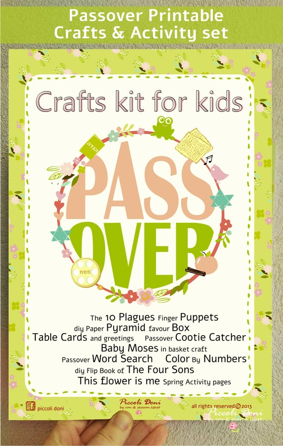 Instant download passover crafts activities set for kids etsy image 0 m4hsunfo
