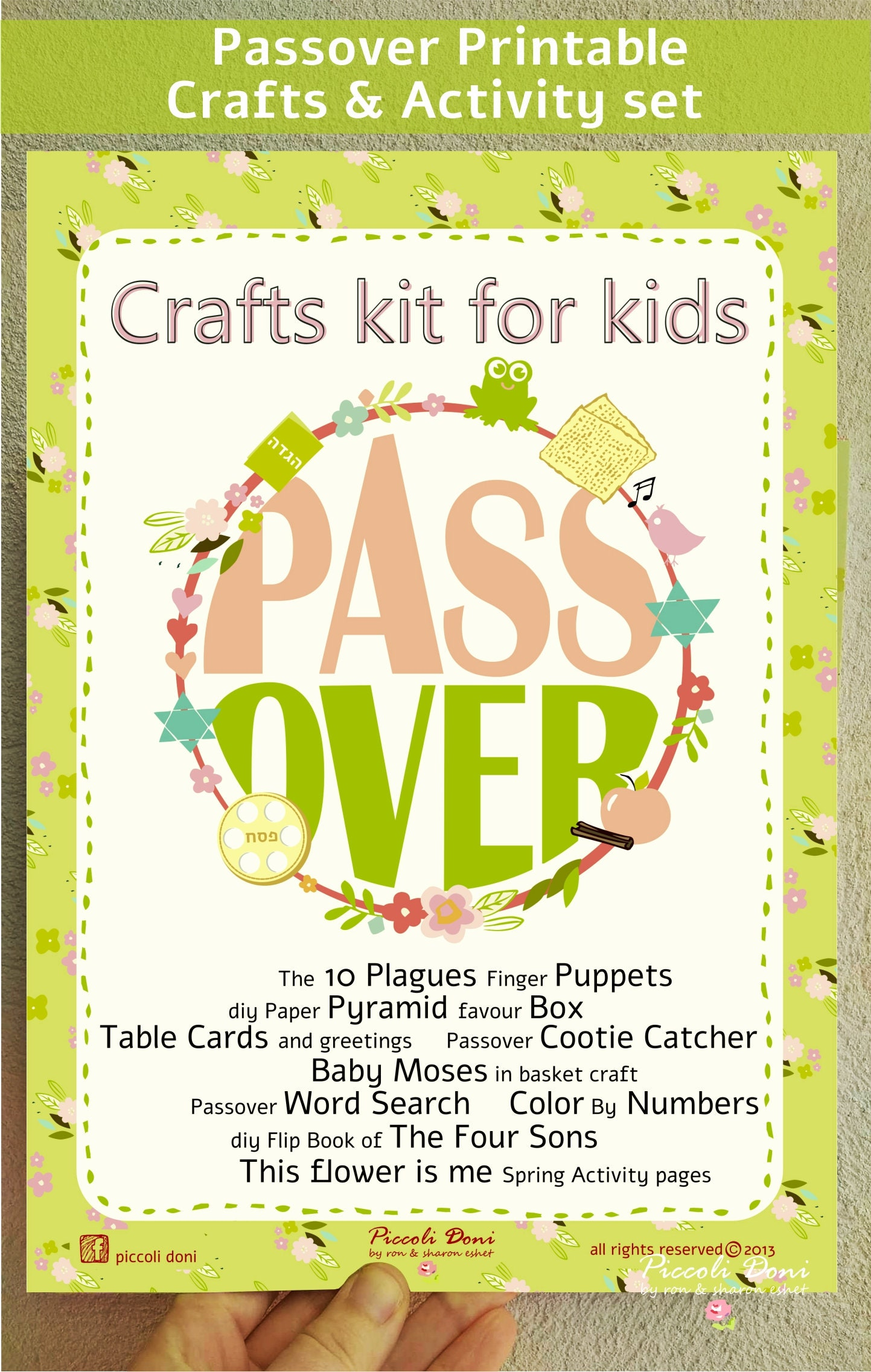 Instant download passover crafts activities set for kids etsy zoom m4hsunfo