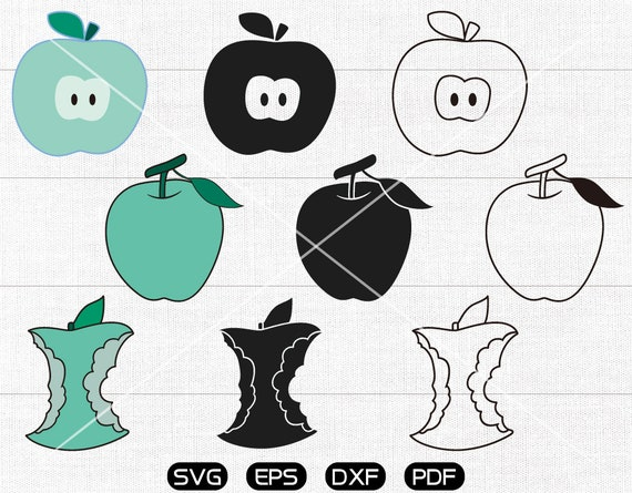 Apple Svg Apple Clipart Cricut Cameo Silhouette Cut Files Etsy