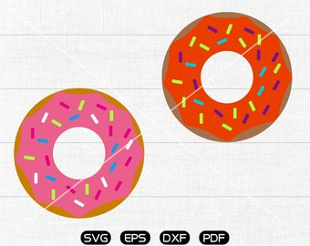 Sprinkle Donut Doughnut SVG, Donut Clipart, cricut, silhouette cut files commercial use