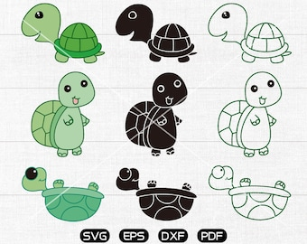 Tortoise Svg, Turtle Clipart, Zoo Animal svg, cricut, cameo, silhouette cut files commercial & personal use