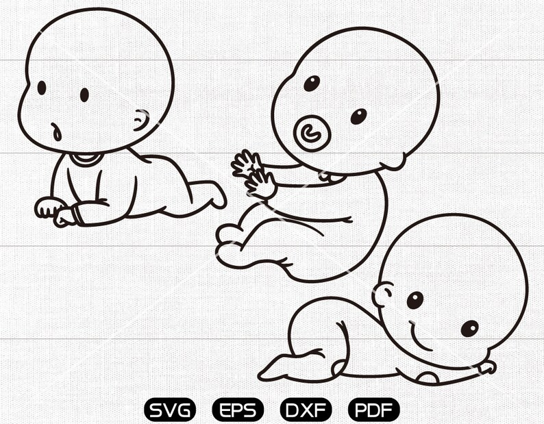 New Baby Svg Newborn Clipart Cricut Silhouette Cut Files