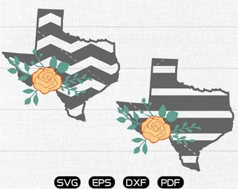 Yellow rose Chevron Texas SVG, Stripe State SVG, TX Clipart, cricut, silhouette cut files commercial use