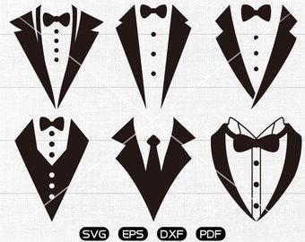 Tuxedo SVG, Tuxedo shirt Clipart, cricut, silhouette cut files commercial use